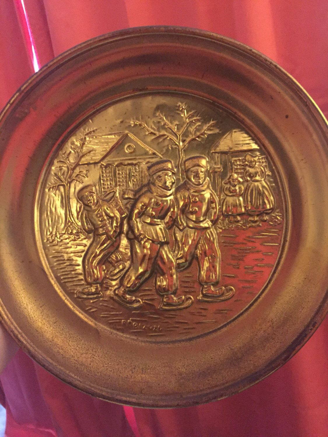 Vintage Br Wall Plate Made In England R812626 Shabbyenwerks Pinterest Antiques My Etsy And