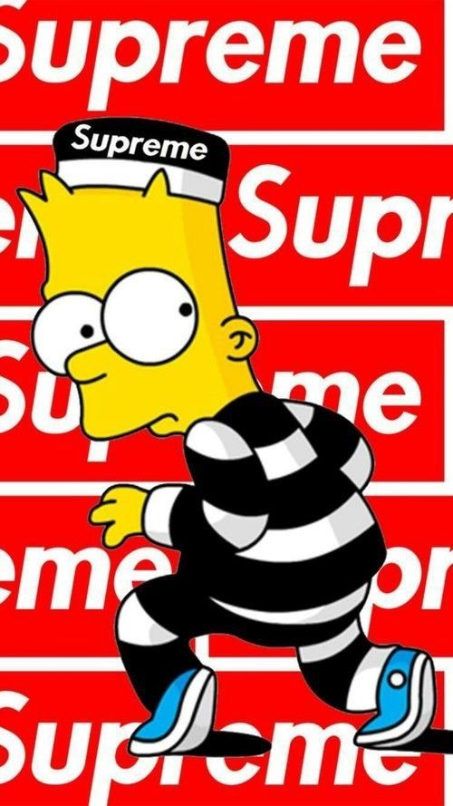 Liftedmilesog Supreme Creation The Simpsons Supreme Wallpaper Supreme Wallpaper Hd Simpson Wallpaper Iphone