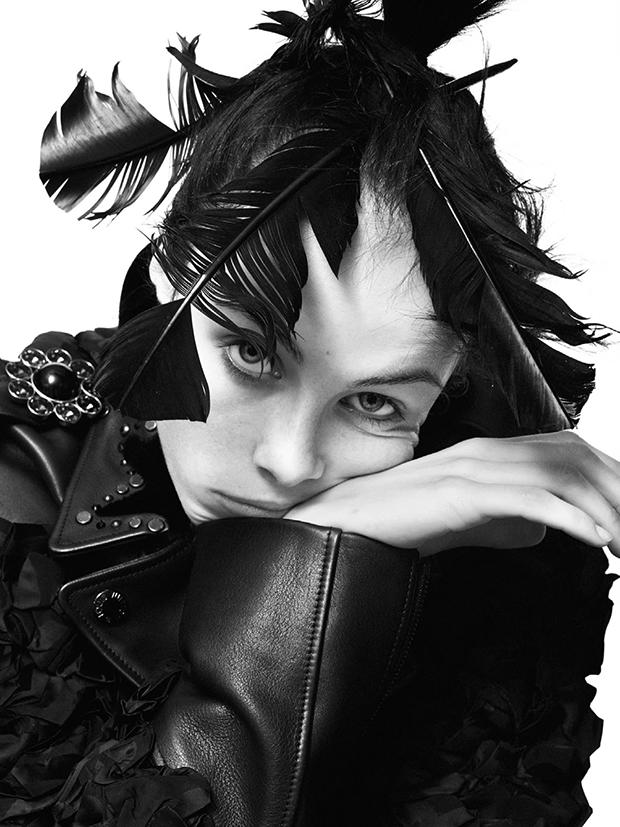 Edie Campbell by David Sims (Le Soleil Noir - Vogue Paris December 2013)