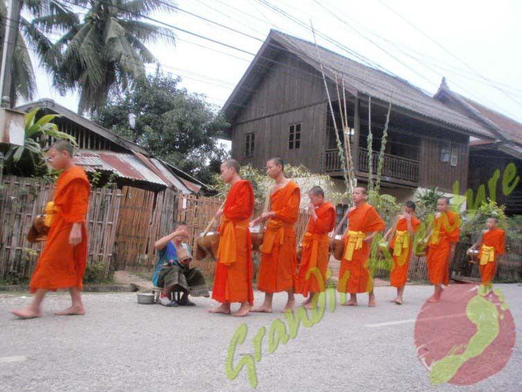 Moines à #Luang_Prabang