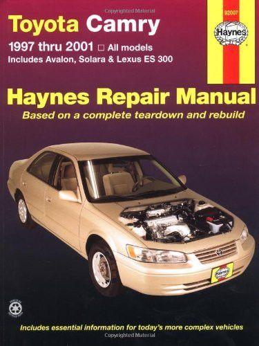 toyota camry 1997 thru 2001 all models includes avalon solara rh pinterest com 1995 Toyota Camry Manual Online 1995 Toyota Camry ManualDownload
