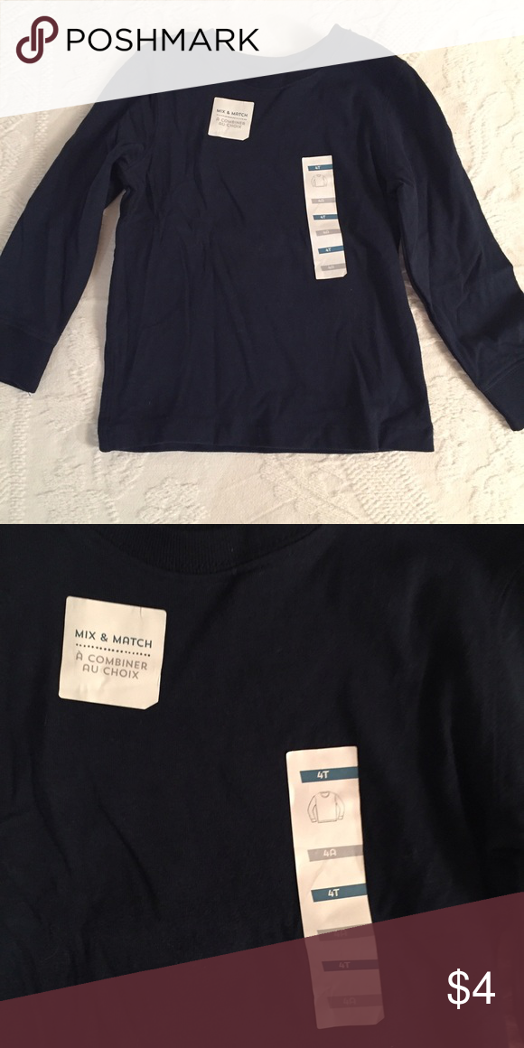 4T NWT navy long sleeve tee! Size 4T never worn tee! Old Navy Shirts & Tops Tees - Long Sleeve