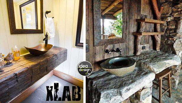Fabulous disegno bagni arredamento bagno rustico images for Mobile bagno rustico moderno