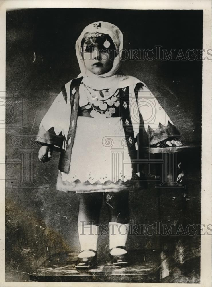 1928 Press Photo Maria Stavropoulos Daughter of Mayor of Village of Lamia