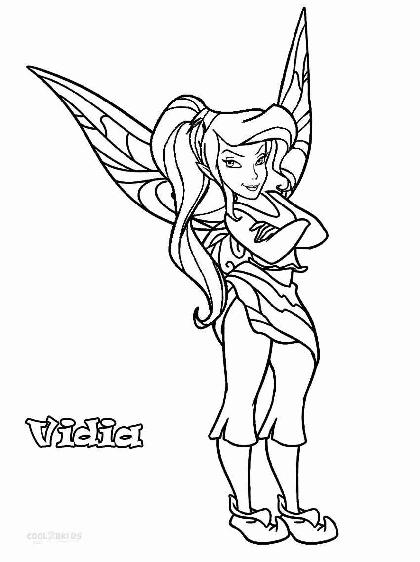 Disney Fairies Coloring Pages Fresh Printable Disney