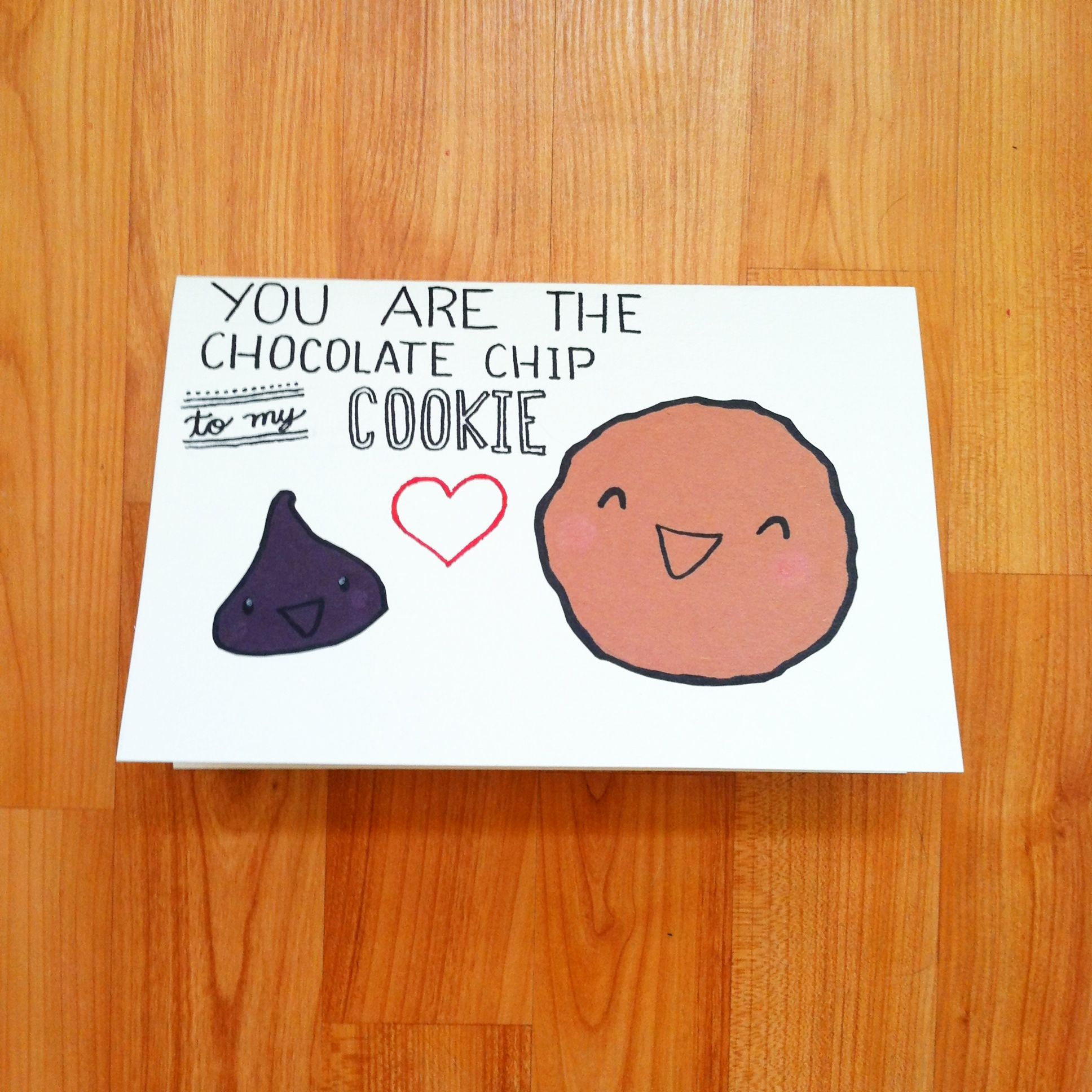 Homemade valentine 39 s day card i made for my cookie lovin for Valentine day card ideas