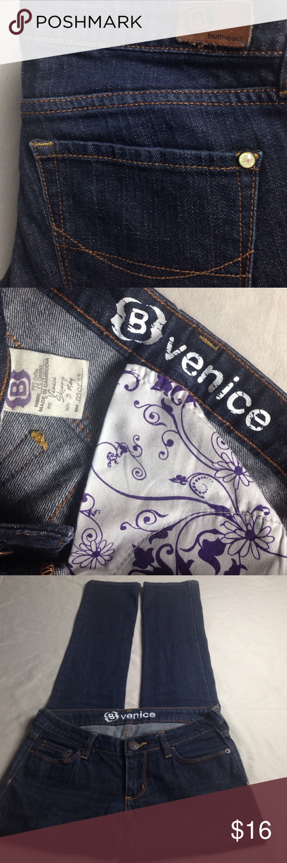 B VENICE STRAIGHT JEANS EXCELLENT  LIKE NEW CUTE B VENICE STRAIGHT JEANS EXCELLENT LIKE NEW CONDITION Size 3 Women's inseam 31 1/2 inches B VENICE Jeans Straight Leg