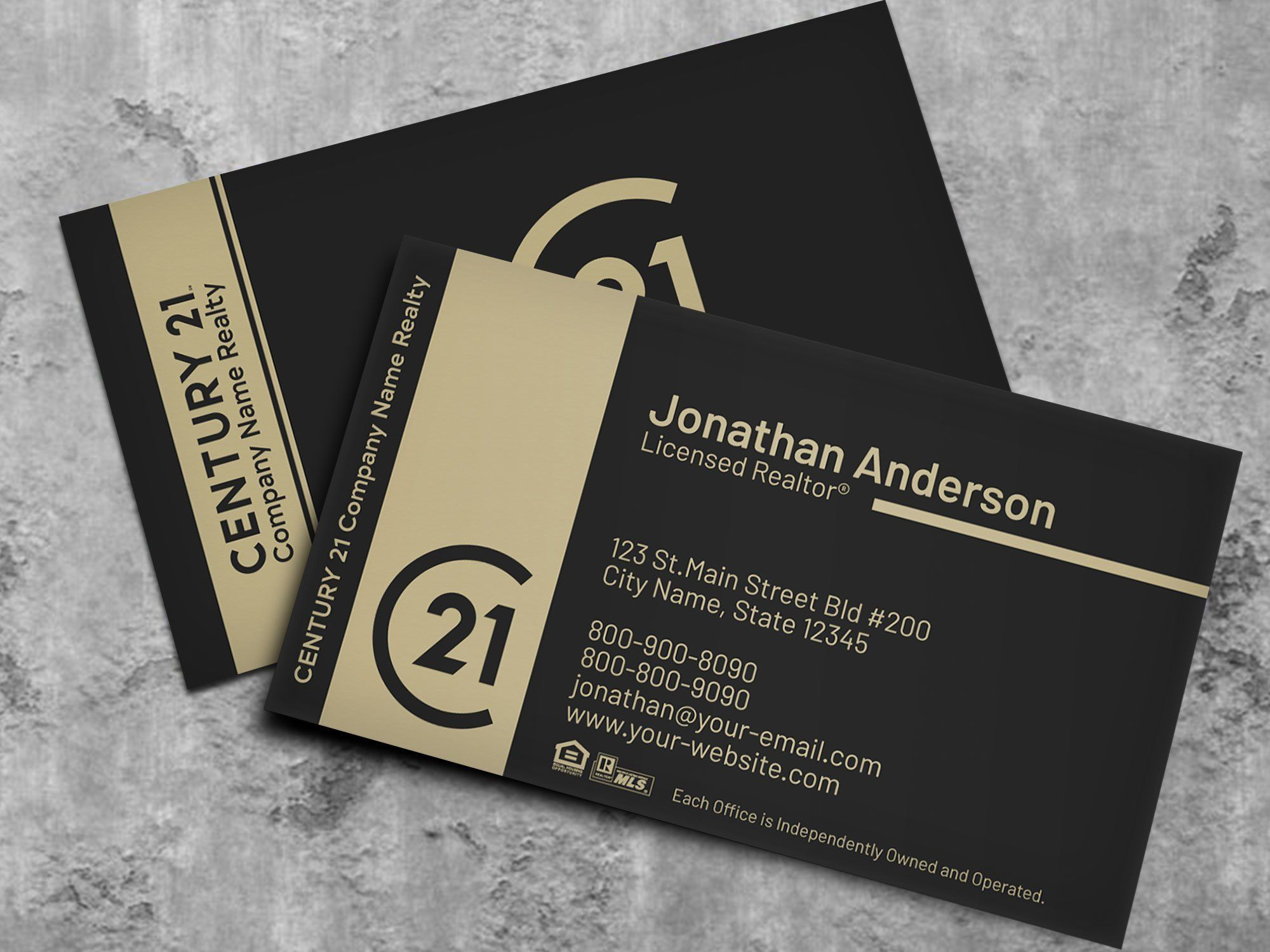 Century 21 Business Card Real Estate Business Card Design Etsy Realtor Business Cards Real Estate Business Card Design Fun Business Card Design