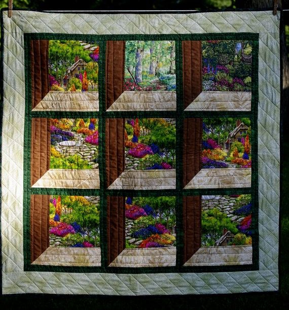 Attic Window Wall Hanging Pattern Attic Windows Quilted