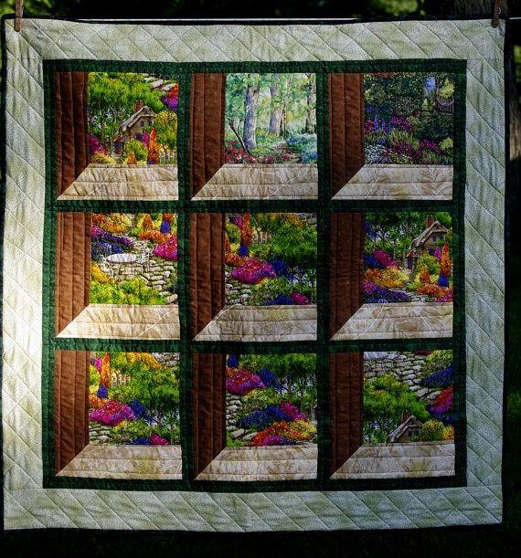 Christmas Attic Window Quilt Pattern.Attic Window Wall Hanging Pattern Attic Windows Quilted