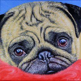 Cute Pug Puppy Dog by simon-knott-fine-artist at zippi co uk