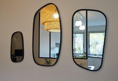 Projet un espace de vie chic et chaleureux cuisine Miroir imitation verriere