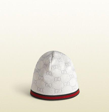 c1f24dfd1 Gucci+Knit+Wool+Gg+Print+Hat+on+shopstyle.com | gucci gucci goo ...