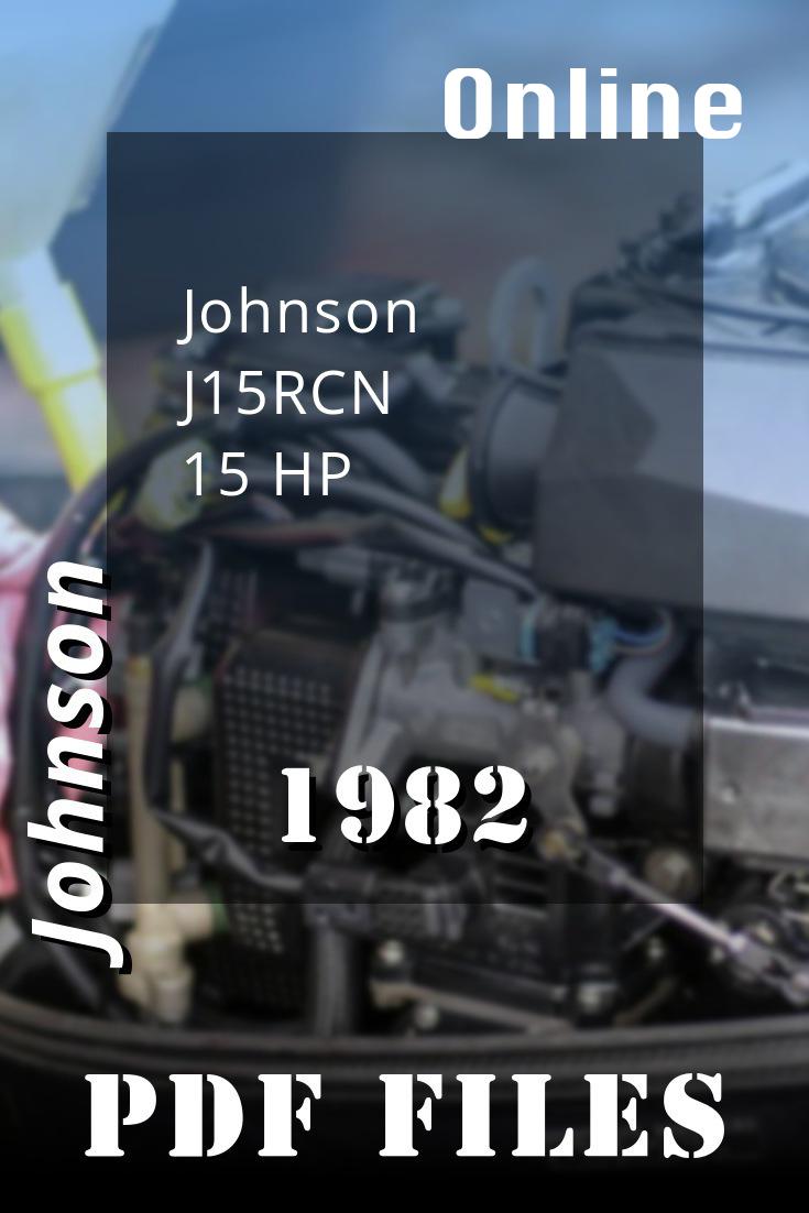 1982 J15rcn Johnson 15hp Outboard Motor Outboard Repair Manuals Diy Repair
