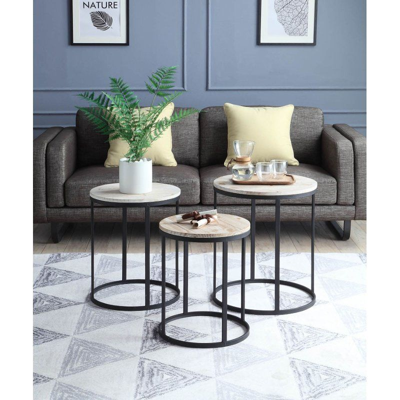 3 Piece Round Nesting End Tables - Layton in 2019 | Nesting ...