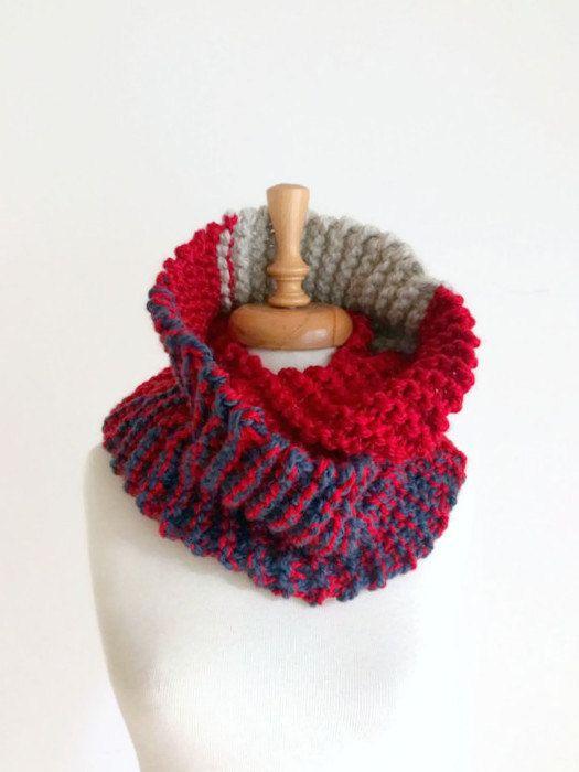 Infinity Scarf Infinity Scarf Chunky Knitting Scarf Knit Cowl