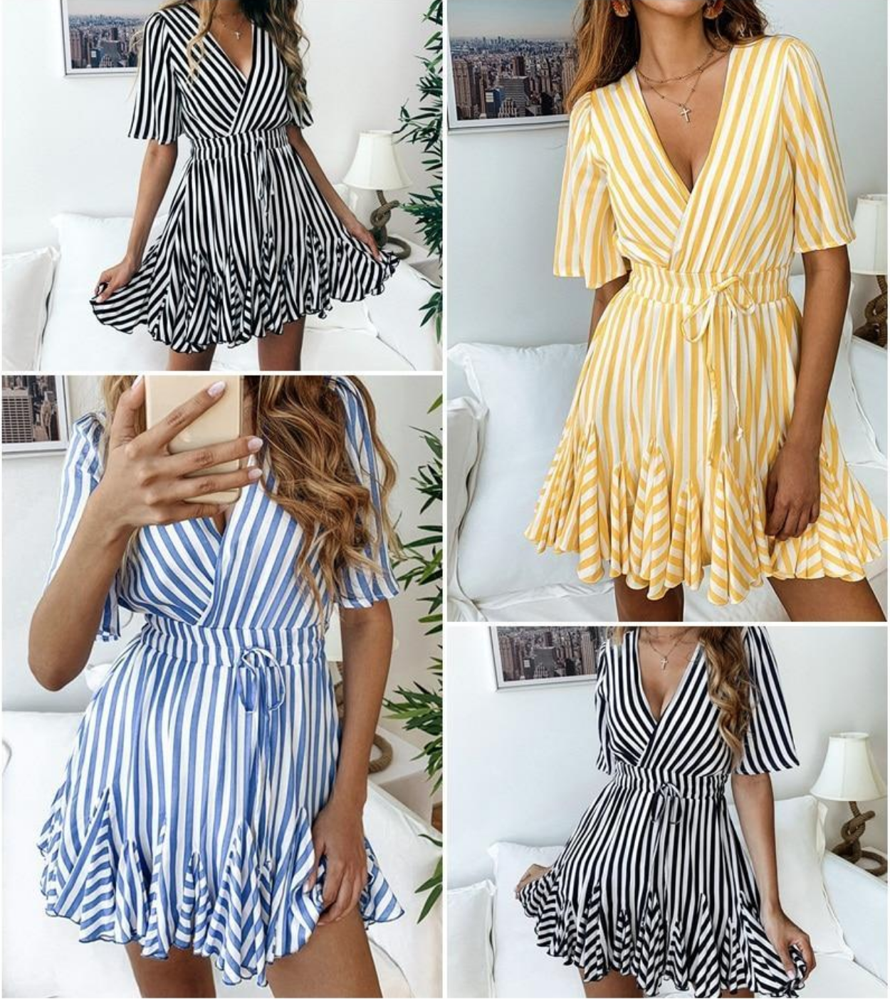 Striped Casual Honeymoon Perfect Vintage Striped Dress Cotton Short Dresses Cotton Dress Summer [ 1402 x 1250 Pixel ]