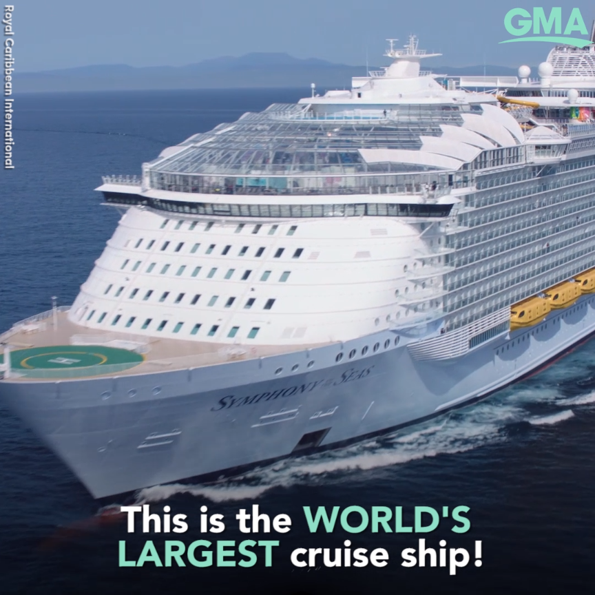 Inside the world's largest cruise ship, built for family fun and a 10-story slide  #travel #cruise #royalcaribbean #caribbean #family #fun #vacation #ocean #beach #ship #boat #adventure