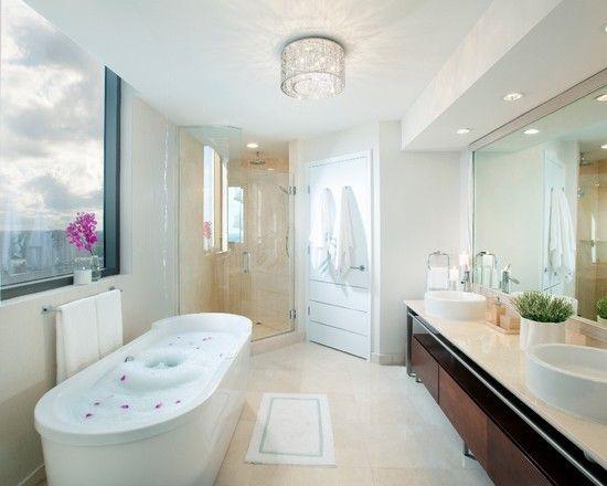 Modern Bathroom Design Miami gorgeous contemporary ensuite bathrooms with white modern bathtub