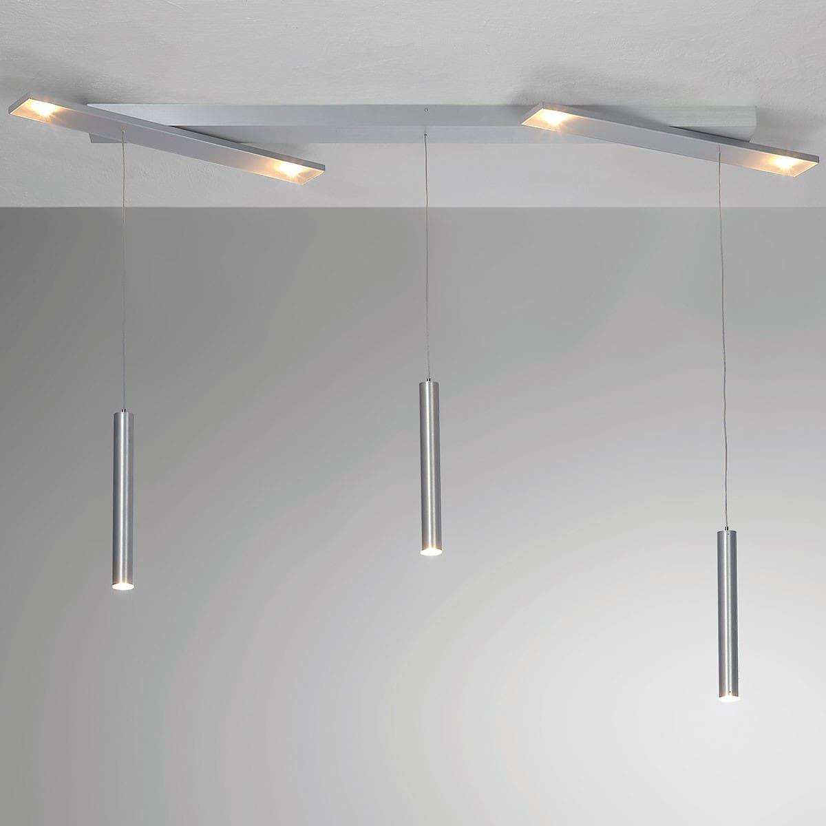Bopp Plus Led Pendelleuchte 7 Flg Aluminium Geschliffen Led Pendelleuchte Pendelleuchte Stehlampe Dimmbar
