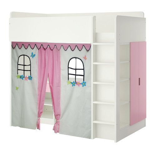 pink bed tent loft bed curtain kid stuff pinterest hochbetten kinderzimmer und n hen. Black Bedroom Furniture Sets. Home Design Ideas