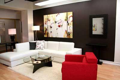 Decoraci n de interiores c mo pintar un sal n moderno - Ver decoraciones de salones ...