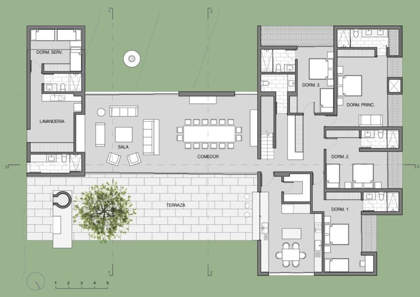 Family Refuge Designed As Escape From The Chaotic City Of Lima Peru Ground Floor Plan Floor Plans Ground Floor