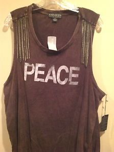 FOREVER 21 TANK, PLUS SIZE 2X, CHAIN EMBELLISHMENT