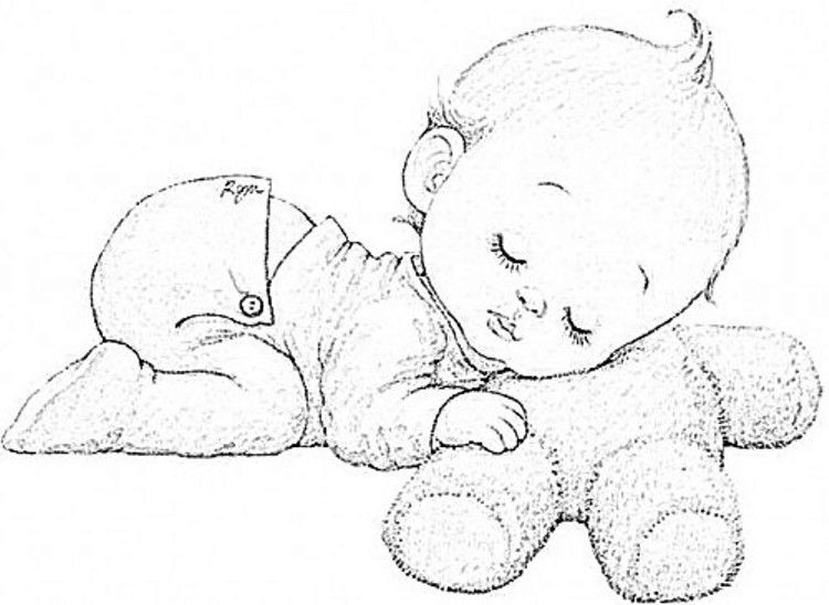 Riscos Bebes Para Pintar | Riscos de bebês para pintar | Kolorowanki ...