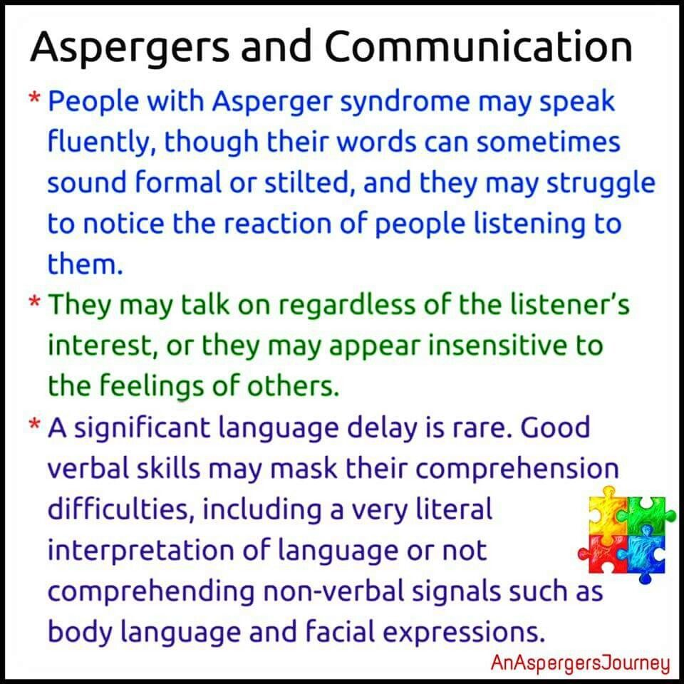Aspergers communication (With images) | Aspergers ...