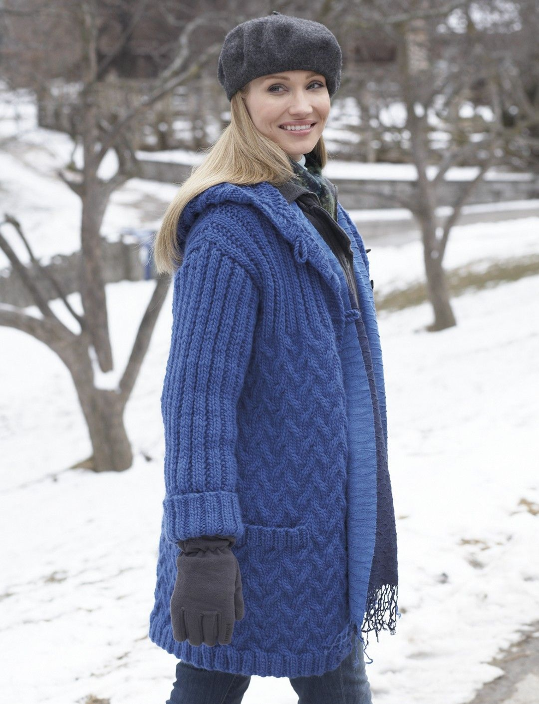 Yarnspirations patons car coat with hood patterns patons car coat with hood knit pattern bankloansurffo Gallery