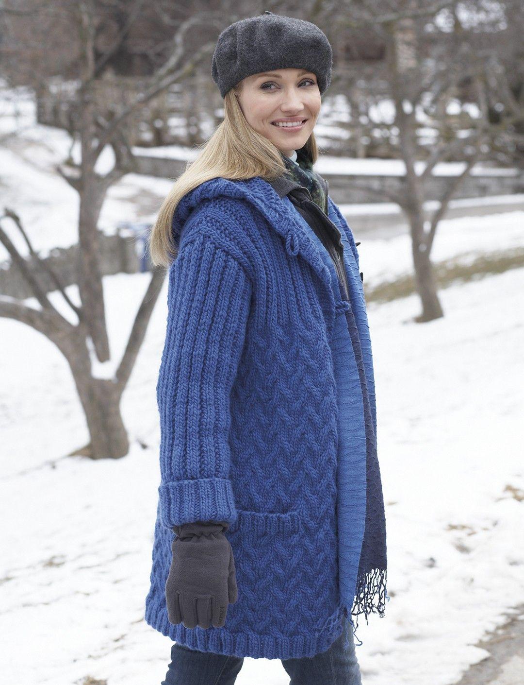 Yarnspirations.com - Patons Car Coat with Hood - Patterns ...