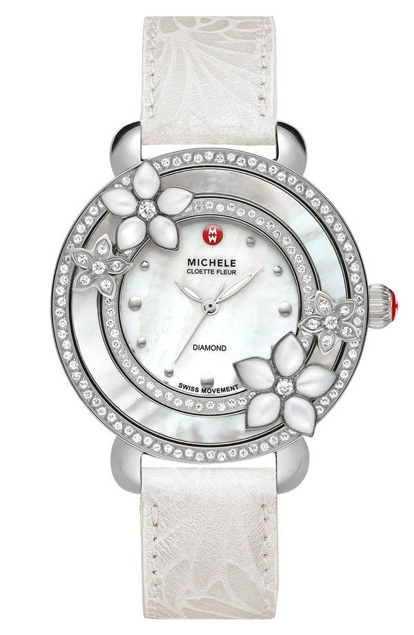 4805822453f0 Relojes De Mujeres · MICHELE  Cloette Fleur  Diamond   Mother-of-Pearl  Watch Pulseras