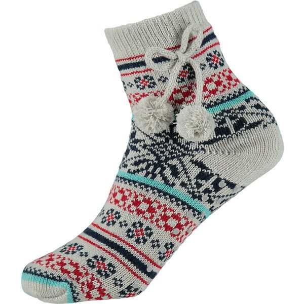 French Connection Fair Isle Knitted Slipper Socks ($12) ❤ liked ...