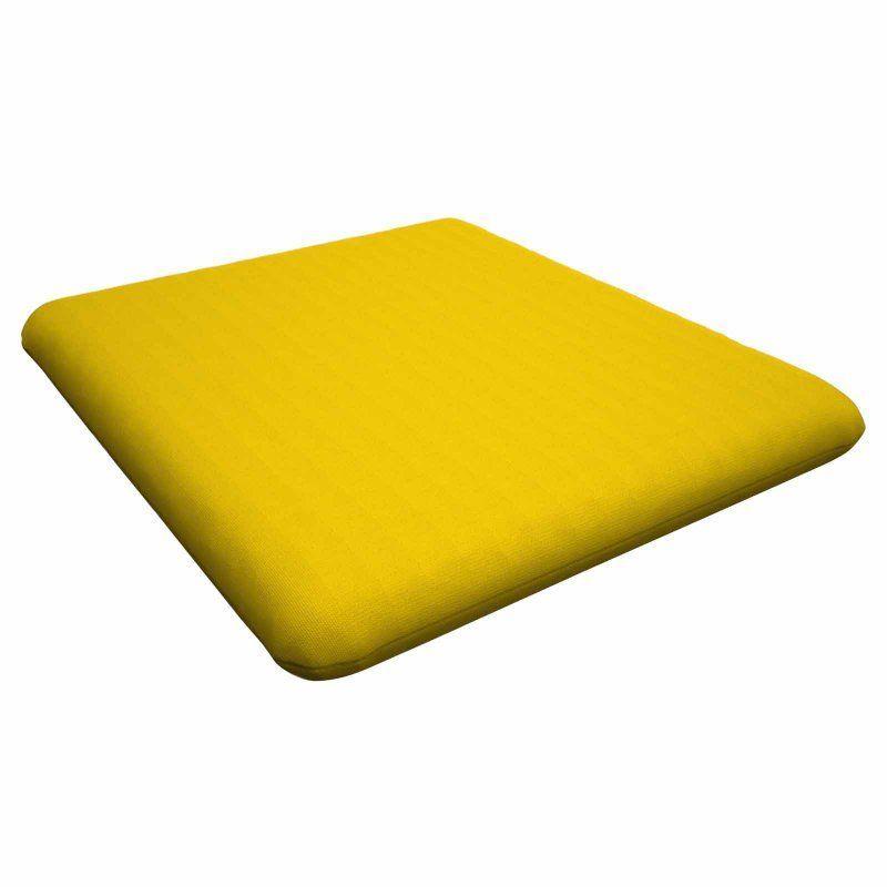 POLYWOOD® Sunbrella 16.5 x 17.5 in. Nautical Seat Cushion Sunbrella Sunflower Yellow