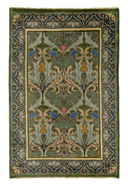 Reproduction Of A Rug By Cfa Voysey 1857 1941 Voysey Was An English Architect And Designer Who Was Craftsman Rugs Arts And Crafts House Art And Craft Design