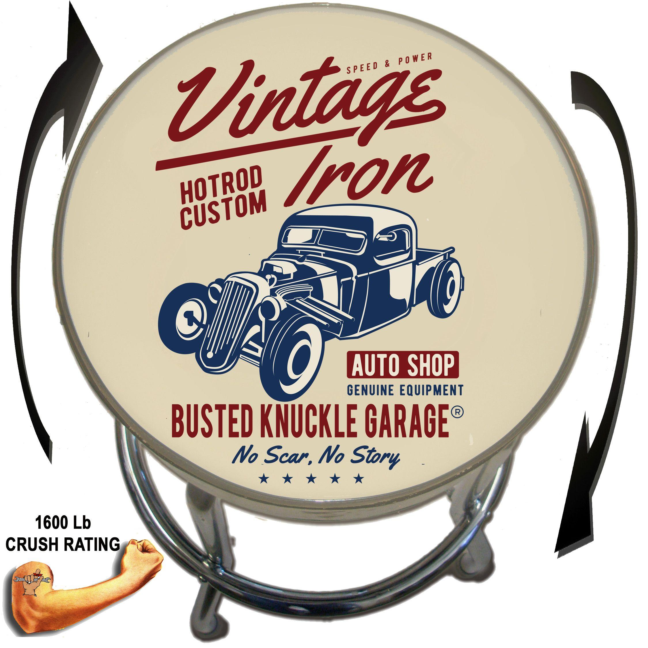 Busted Knuckle Garage 09-BKG-86-SH Shift Happens Barstool