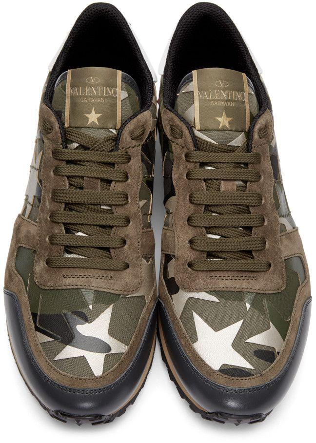 4366f19fcc4dd2 Valentino - Green Stars Camo Sneakers
