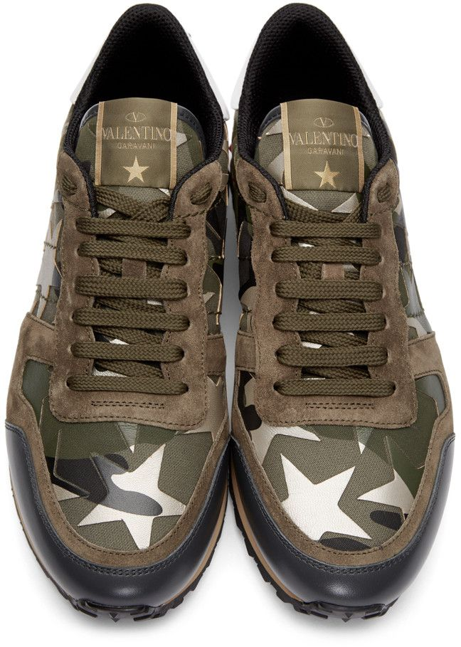 607ebb1bee6c97 Valentino - Green Stars Camo Sneakers