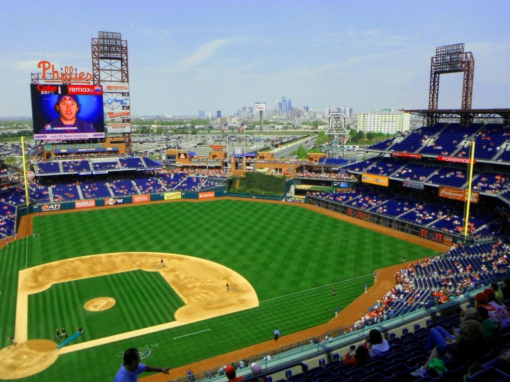 Citizens Bank Park With Philly Skyline In Background Love S Photo Album Love Photos Skyline Background