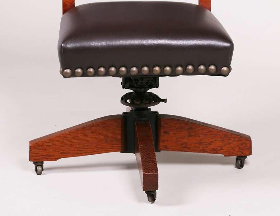California Historical DesignGustav Stickley Swivel Chair c1902-1904 | California Historical Design