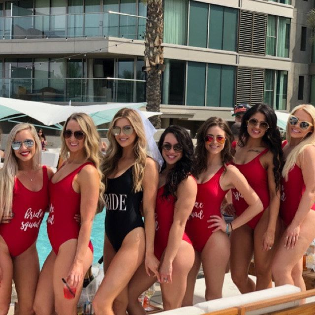Bride Squad Two pieces Swimsuits