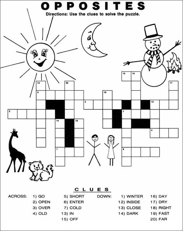 Crossword Puzzles For Kids Coloring Rocks Printable Crossword Puzzles Free Printable Crossword Puzzles Word Puzzles For Kids