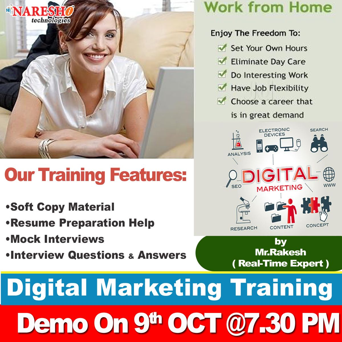 Even if you're past y. Attend Free Demo On Digital Marketing On 9th Oct @7:30PM ...
