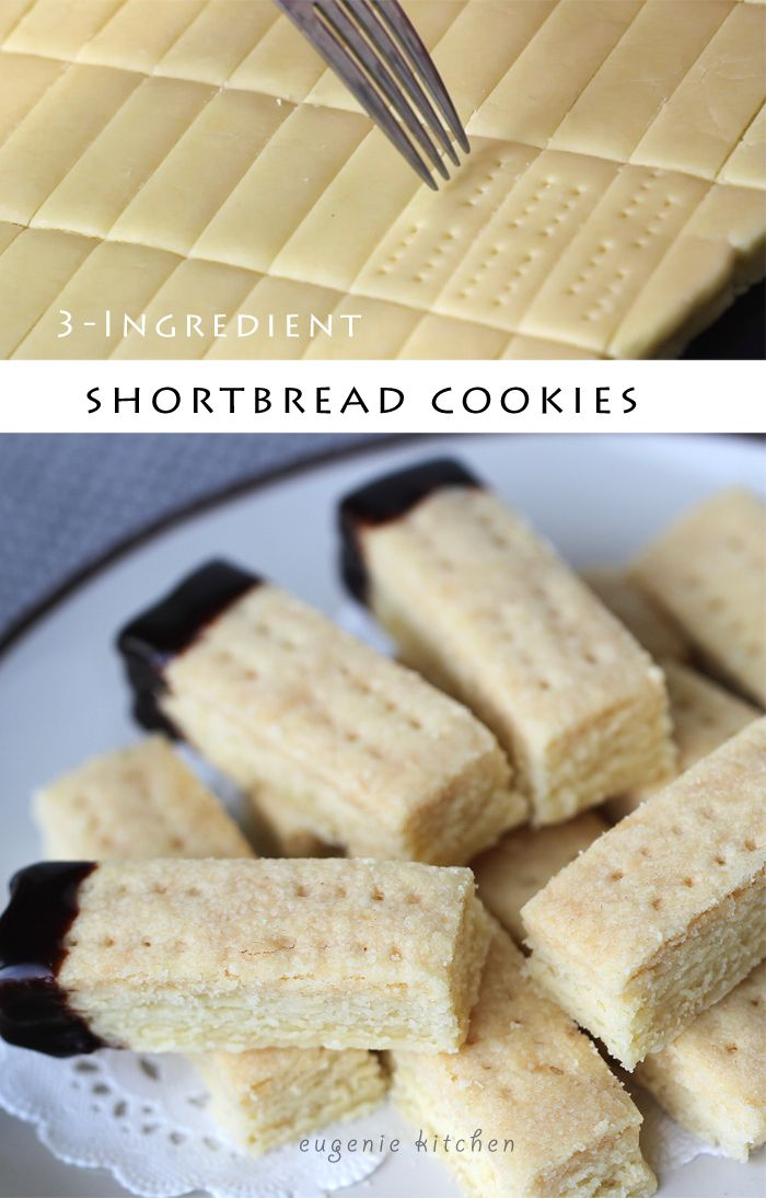 3 Ingredient Shortbread Cookie Recipe Eugenie Kitchen