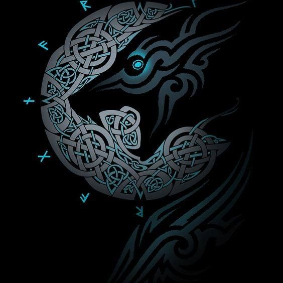 night wolf dessins tatouage viking id es de tatouages. Black Bedroom Furniture Sets. Home Design Ideas