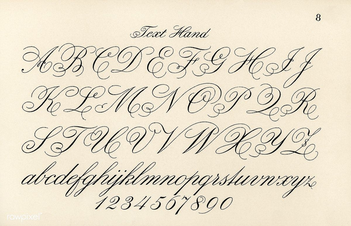 Cursive Fonts From Draughtsman S Alphabets By Hermann