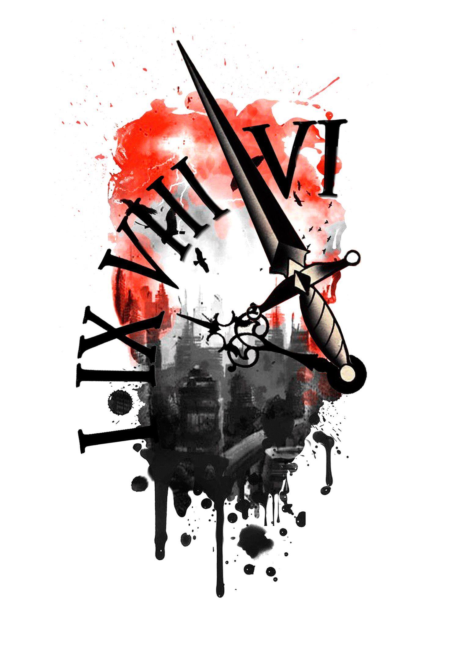 Tattoo Sketch Clocke татуировка эскиз Tattoo Sketch татуировка