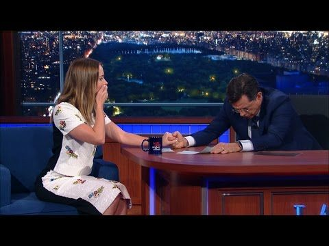 Stephen & Emily Blunt Have A Fake Vomit-Off - YouTube