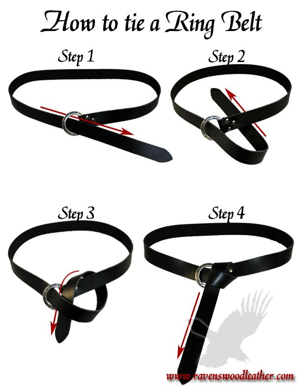 How To Tie A Ring Belt How To Wear Belts Belt Fashion Jewerly